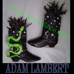 Adam Lambert, whose shoe